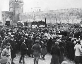 MILLION MAN MARCH AT THE KREMLIN, NOVEMBER 1917